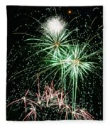 Fireworks 4 Fleece Blanket