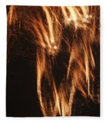 Fireworks A Different Perspective Five Fleece Blanket