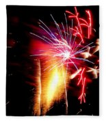 Fireworks Abstract #8 Fleece Blanket
