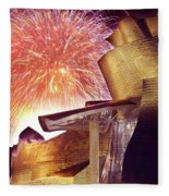 Fireworks At Guggenheim Fleece Blanket