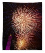 Fireworks At Maspalomas 2  Fleece Blanket