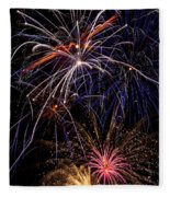 Fireworks Celebration  Fleece Blanket