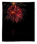 Fireworks II Fleece Blanket