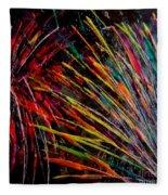 Fireworks In Bled Fleece Blanket