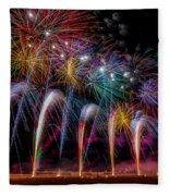 Fireworks Line Fleece Blanket