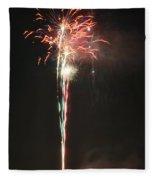 Fireworks On The Lake Fleece Blanket