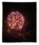 Fireworks Over Puget Sound 2 Fleece Blanket