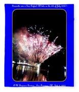 fireworks over San Rafael lake Fleece Blanket