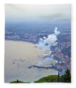Fireworks Over Sicily Fleece Blanket