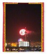Fireworks Over The Las Vegas Strip Fleece Blanket