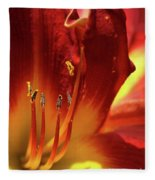 Firey Lily Fleece Blanket