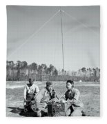 First African American United States Marines 1942 Fleece Blanket
