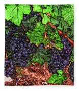 First Came The Grape Fleece Blanket