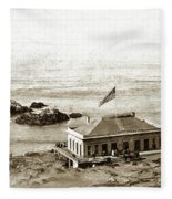 First Cliff House  View Of Ropes From The Cliff House To Seal Rock Circa 1865 Fleece Blanket