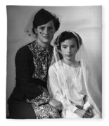 First Communion And Mom Fleece Blanket