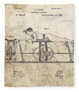First Exercise Machine Patent Fleece Blanket