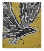 First Flight Original Painting Fleece Blanket