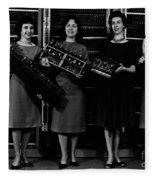 First Four Computer Circuit Boards Fleece Blanket