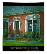 First Impressions Salon In Woodstock Vermont Fleece Blanket