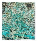 First Infantry Division Memorial Plaque Fleece Blanket