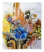 First Light In The Garden Of Eden Fleece Blanket