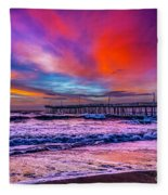 First Light On The Beach Fleece Blanket