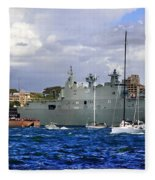 First Peak At Australia's Newest Warship Fleece Blanket