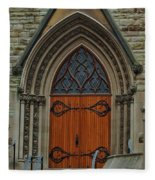 First Presbyterian Church Door Fleece Blanket
