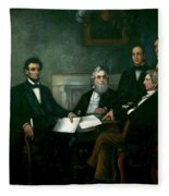 First Reading Of The Emancipation Proclamation Of President Lincoln Fleece Blanket