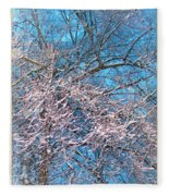 First Snow At Dawn Fleece Blanket