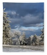 First Snow Of The Year Fleece Blanket
