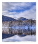 First Snow On West Lake Fleece Blanket