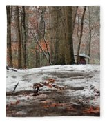 First Snowfall - A Walk In The Woods Fleece Blanket