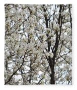 First Spring Blossom Fleece Blanket