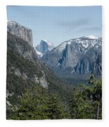 First View Of Yosemite Valley Fleece Blanket