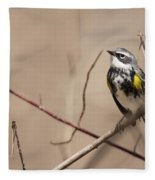 First Warbler Back Yellow Rumped Warbler Fleece Blanket