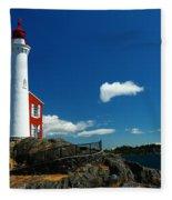 Fisgard Lighthouse Fleece Blanket