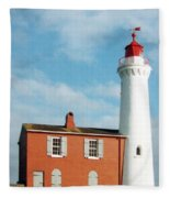 Fisgard Lighthouse Fleece Blanket