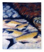 Fish And Shellfish Fleece Blanket