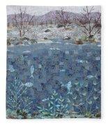 Fish And Winter Fleece Blanket