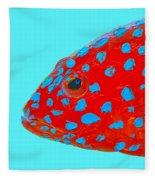 Fish Art - Strawberry Grouper Fleece Blanket