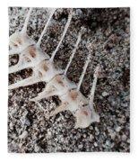 Fish Bones In Sand Fleece Blanket
