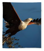 Fish Eagle Taking Flight Fleece Blanket