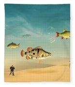 Fish Life  Fleece Blanket