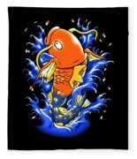 Fish Lucky Fleece Blanket