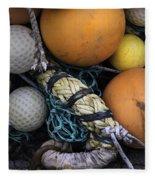 Fish Netting And Floats 0129 Fleece Blanket