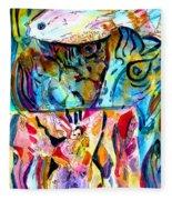 Fish Pot Fleece Blanket