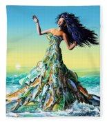 Fish Queen Fleece Blanket