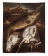 Fish Still Life Fleece Blanket