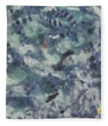 Fish Thrashing Fleece Blanket